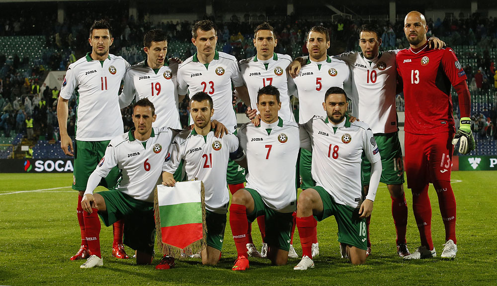 Bulgarian national team in March 2015; photo: BFS