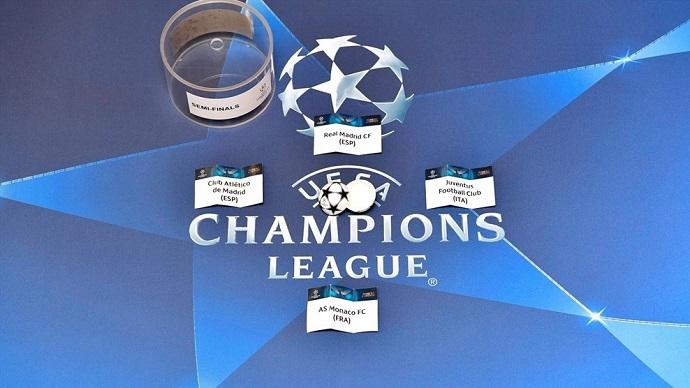 Извлечени полуфиналните двојки за Лигата на шампионите