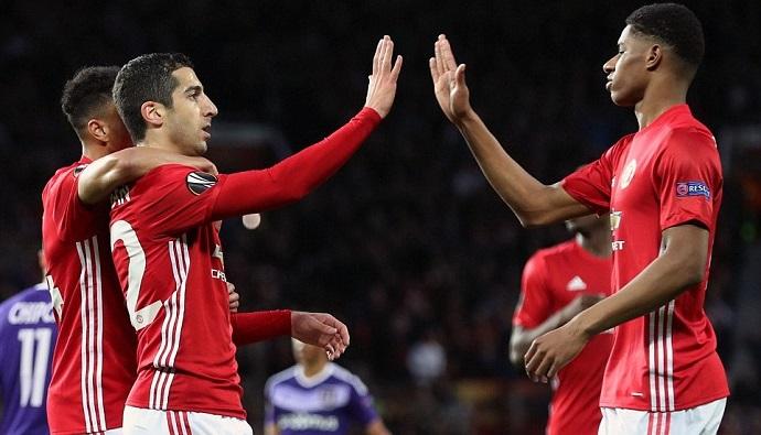 Манчестер јунајтед по продолженија го совлада Андерлехт  Рохо и Ибрахимовиќ се повредија