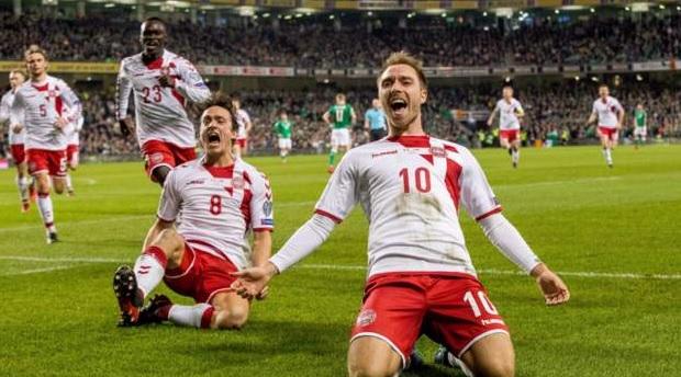 Данска ја потопи Ирска  шоу на Ериксен