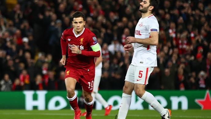 ЛШ  полувреме  Ливерпул без милост кон Спартак Москва  Шахтјор ги руши надежите на Наполи  Порто лесно против Монако